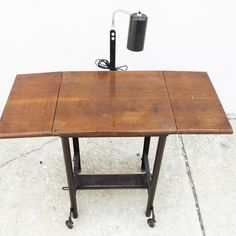 Vintage Metal Typewriter Table Industrial Bar Cart | Vintage Metal,  Typewriters And Metals