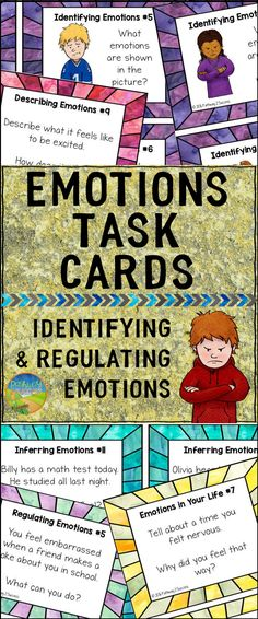 Emotions task cards to help identify and regulate emotions