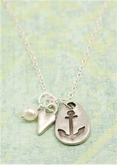 Love is my anchor necklace  $48.00