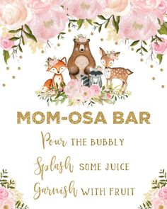 Shop Girl Woodland Baby Shower Forest Animals Pink Gold Invitation created by BlueBunnyStudio. Baby Girl Shower Themes, Baby Shower Decorations, Baby Shower Welcome Sign, Floral Baby Shower, Shower Baby, Baby Shower Invitations, Birthday Invitations, Invites, Forest Animals