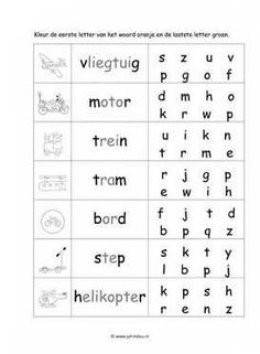 Dit taal werkblad en nog veel meer in het thema verkeer kun je downloaden op de website van Juf Milou.