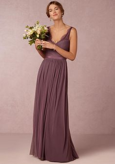 BHLDN (Bridesmaids) Fleur-Purple Bridesmaid Dress photo