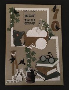 Pia Jensen kort - 70 års fødselar Marianne Design, Masculine Cards, Deco, Birthday Cards, Birthdays, Card Making, Scrapbooking, Happy, How To Make