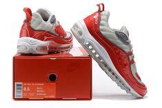timeless design d7430 55476 Prezzo Basso Scarpa New Supreme x Nike Air Max 98 Grigio Rosso Running Uomo