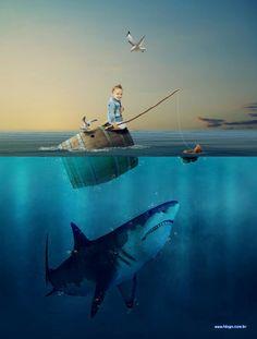 Garoto e Tubarão
