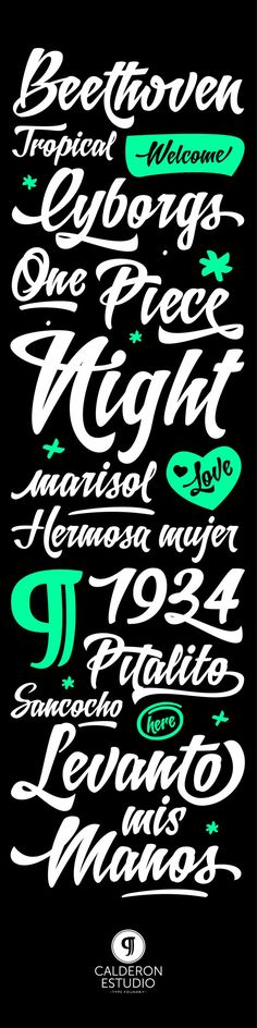 Quotes - Quotes Typo - Letrista Script Typeface - by Felipe Calderón... Quotes Typography trend & inspiration  Preview – Quote    Description  Letrista Script Typeface – by Felipe Calderón  – Source –