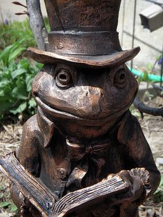 Mr. Toad with book