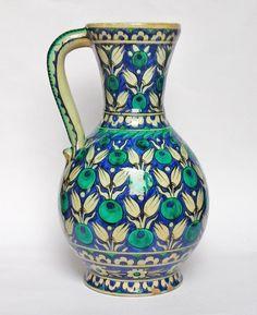 Antique Ottoman Turkish Iznik Style Cantagalli Jug C1920 | eBay