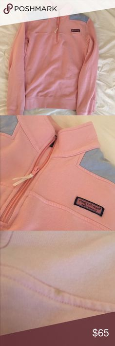 Vineyard Vines Shep Shirt This super preppy baby pink VV Shep shirt is perfect for everyday wear. In like new condition❤️❤️❤️ Vineyard Vines Tops Sweatshirts & Hoodies