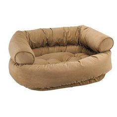 Diamond Microvelvet Double Donut Pet Bed  Chocolate Bones X Large 48 x 38 x 17 in * Check this awesome product by going to the link at the image.