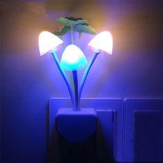 LED Tường Night Lights Nấm Nhà Máy Phong Cách Đèn Cảm Biến cho Trẻ Em Chiledren Ngủ Đèn Ngủ