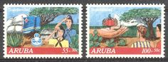 Stamps with Tree, Scouting, Cactus from Aruba, product #176829
