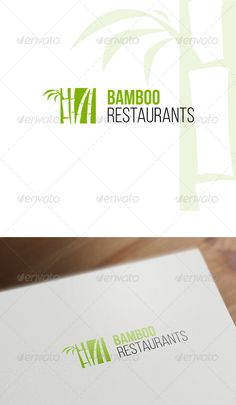 Bamboo Logo Template — Vector EPS #restaurant #nature • Available here → https://graphicriver.net/item/bamboo-logo-template/7823708?ref=pxcr