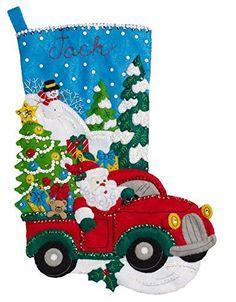 Terminado de Bucilla Navidad Santa muñeco de por SewtasticStockings