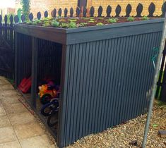 How to overcome challenges when designing outdoor play spaces Bike Storage Outdoor Shed, Outdoor Sheds, Shed Storage, Storage Ideas, Storage Rack, Bicycle Storage, Diy Storage, Outdoor Play Spaces, Outdoor Toys