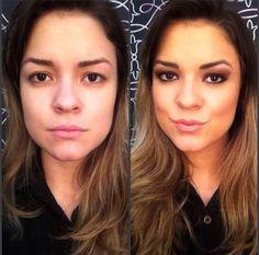 A consultora @palomafernac, do Beauty Team da NYX Vitória, é naturalmente linda, mas olhem como a maquiagem com o contorno caprichado deixa ela com todo um ar de mulherão. Kim Kardashian aplaudiria