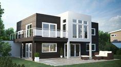 Toppbilde 1  Liker hvordan den hvite fasaden stikker ut House Goals, Home Fashion, Future House, House Ideas, Floor Plans, Exterior, Mansions, House Styles, Porn