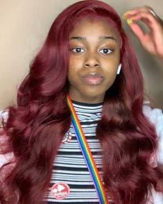 Quality virgin human hair & extensions trusted & recommended by stylists, and backed by the only return policy in the industry. Try Mayvenn hair today! Weave Hair Color, Red Weave, Medium Hair Styles, Curly Hair Styles, Natural Hair Styles, Black Girl Weave, Sew In Hairstyles, Black Hairstyles, Hairdos