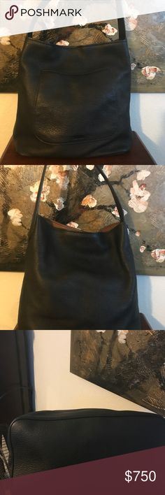 Prada Large Cervo Deerskin Leather Like new condition. No flaws. Authentic Prada. Tv $1000 Stunning Prada Shoulder Bag makes a perfect everyday bag. A slouchy classic, its roomy interior will hold all your daily essentials in style. This gorgeous tote is crafted from rich pebbled deerskin soft black leather with a single shoulder strap and silver tone hardware. A practical and fabulous bag for day or night! prada Bags Hobos