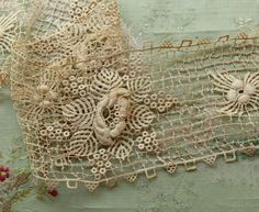 Antique fabulous intricate guipure cotton trim by duchesstrading