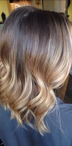 Shoulder length 'in' cut can pull off ombre just as well as the long.