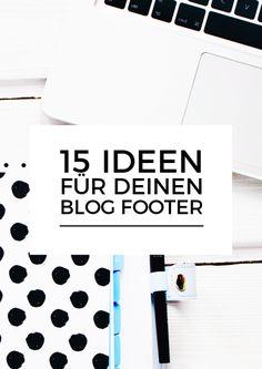 15 Ideen für deinen Blog Footer