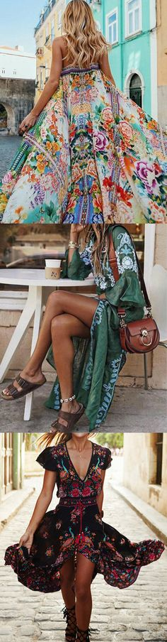 $19~$65 USD!Shop Now>> 100+ Spring&Summer Dresses for You. Summer Wear For Ladies, Mode Shoes, Look Boho, Summer Outfits, Summer Dresses, Boho Fashion, Womens Fashion, Mode Outfits, My New Room