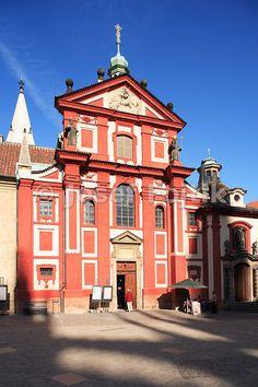 Saint George's Basilica at Prague Castle, Prague, Czech Republic