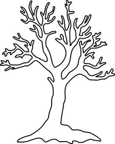 Simple Tree Coloring Sheet Stencil Painting Stenciling Templates