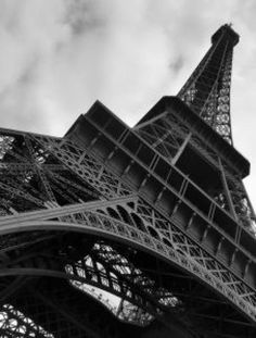 Up close at the Eiffel Tower in Paris.