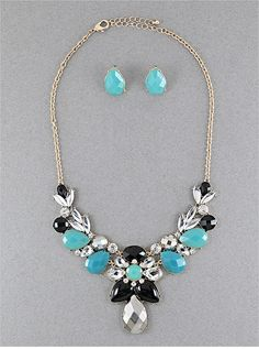 Turquoise Windsor Necklace & Earring Set from P.S. I Love You More Boutique. shop at: psiloveyoumore.storenvy.com