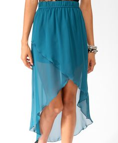 Chiffon High-Low Wrap Skirt | FOREVER21 - partially lined
