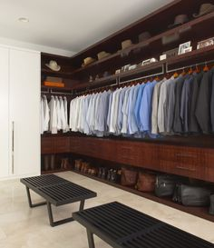 Your own private men's store!  Very modern for this cowboy's closet!