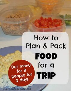 Want to save money on your next trip? Try bringing your own food instead of eating out! Here's a peek into how we plan and pack food for our family trips.