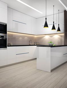 Interior design ideas for a luxury kitchen decor. On this kitchen, you can see e… Interior design ideas for a luxury kitchen decor. On this kitchen, you can see extraordinary furniture design pieces Pin: 783 x 1024 Luxury Kitchen Design, Luxury Kitchens, Interior Design Kitchen, Home Design, Home Kitchens, Wall Design, Small Kitchens, Glass Design, Modern Kitchens With Islands
