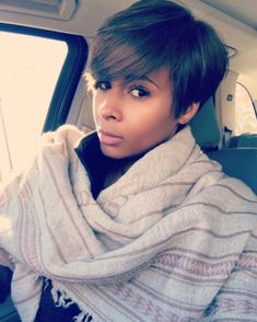resh blow out by Lily Ortiz // Keratin Treatment by Salon Gioje NYC Lashes/Brows by Cynthia Wrobel ( Short Pixie, Pixie Cut, Short Hair Cuts, Short Hair Styles, Keratin, Black Girls Hairstyles, Cute Hairstyles, Hair Specialist, Nyc