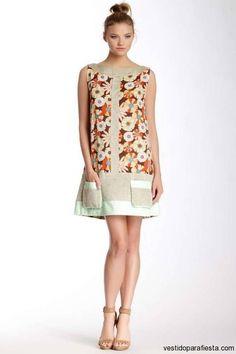Regresar A Vestidos Cortos Estampados De Moda Casual Primavera 2015
