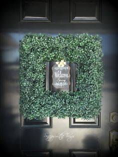 Embellish an existing wreath -- classic spring wreath ideas (without going overboard). :)    by SnazzyLittleThings.com