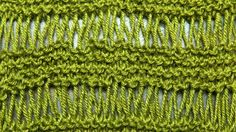 The Drop Stitch :: Knitting Stitch #14 :: New Stitch A Day  One of my favorite stitches!!