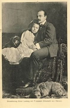 Grand Duke Ernst Ludwig with his beloved daughter, Princess Elisabeth, his only child with his 1st wife, Princess Victoria Melita.  Tragically, Elisabeth died at 8 from typhoid fever.  Ernst Ludwig mourned her the rest of his life.