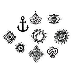 mandala mini tattoo - Buscar con Google