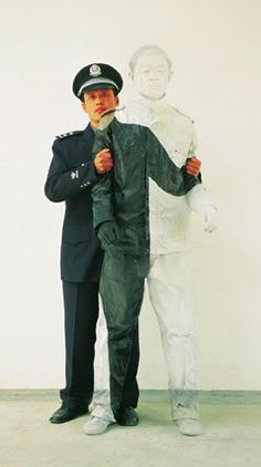 Liu Bolin, The Invisible man. Fantastic photos, he actually does look invisible.