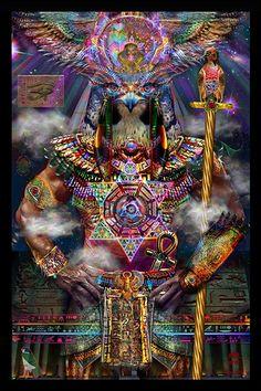 Série égyptienne - Horus Tapisserie - Jumbie Art