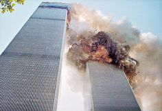 In this image the South Tower of the World Trade Center begins its collapse, September Photo credit: Bolivar Arellano — in New York, New York. World Trade Center Collapse, World Trade Center Attack, Trade Centre, World Trade Center Pictures, 11 September 2001, Remembering September 11th, Remembering 911, James Nachtwey, Iconic Photos
