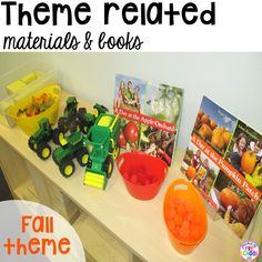 Put fall props in your blocks center. How to set up the blocks center in your early childhood classroom (with ideas, tips, and book list) plus block center freebies