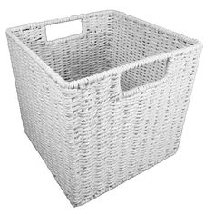 White Paper Rope Storage Cube | Fits Cube Storage Units By Cane Design On  THEHOME.