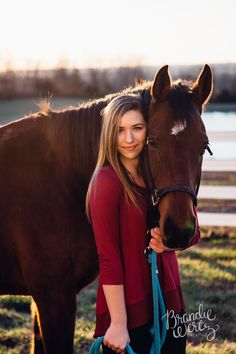 A girl and her horse #photography #portraits #sunset