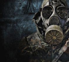 gas mask art tumblr