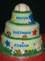 1st birthday cake for boy sports - Bing Images