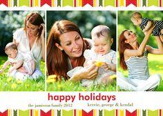 pretty festive ribbons holiday card